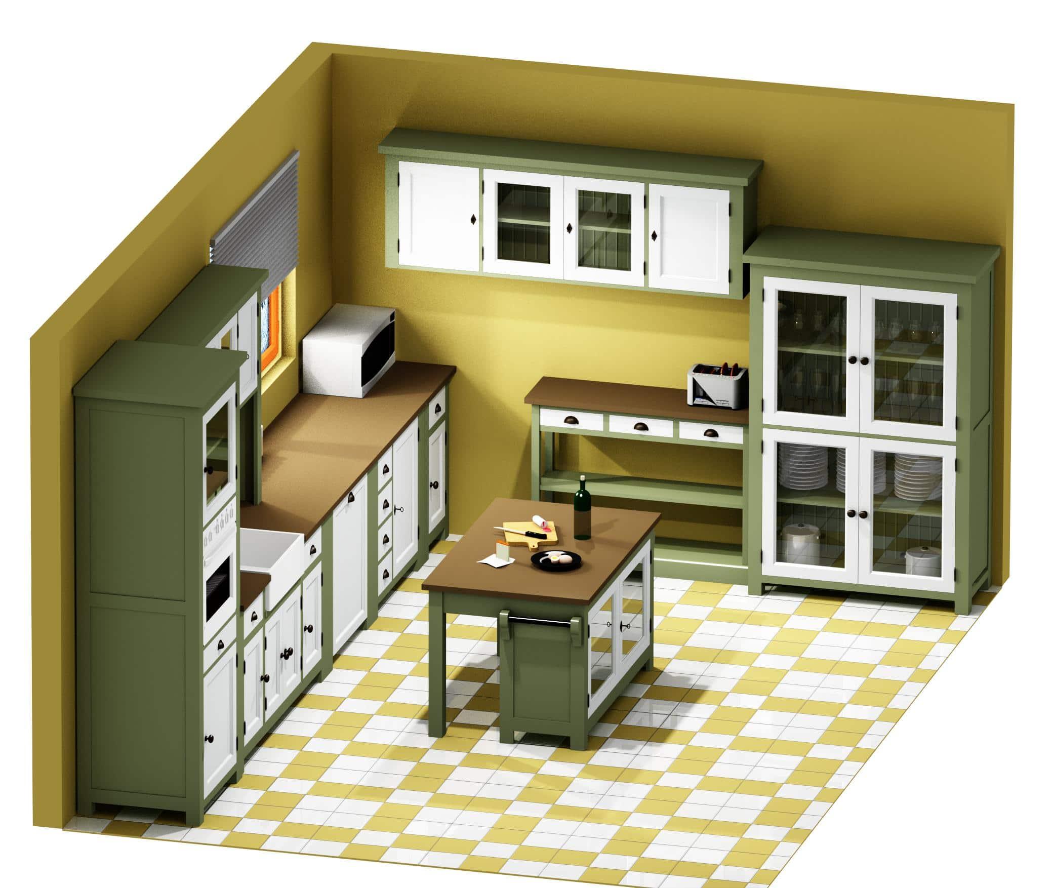 Projet 3d de cuisine le d p t des docks for Projet de cuisine en 3d