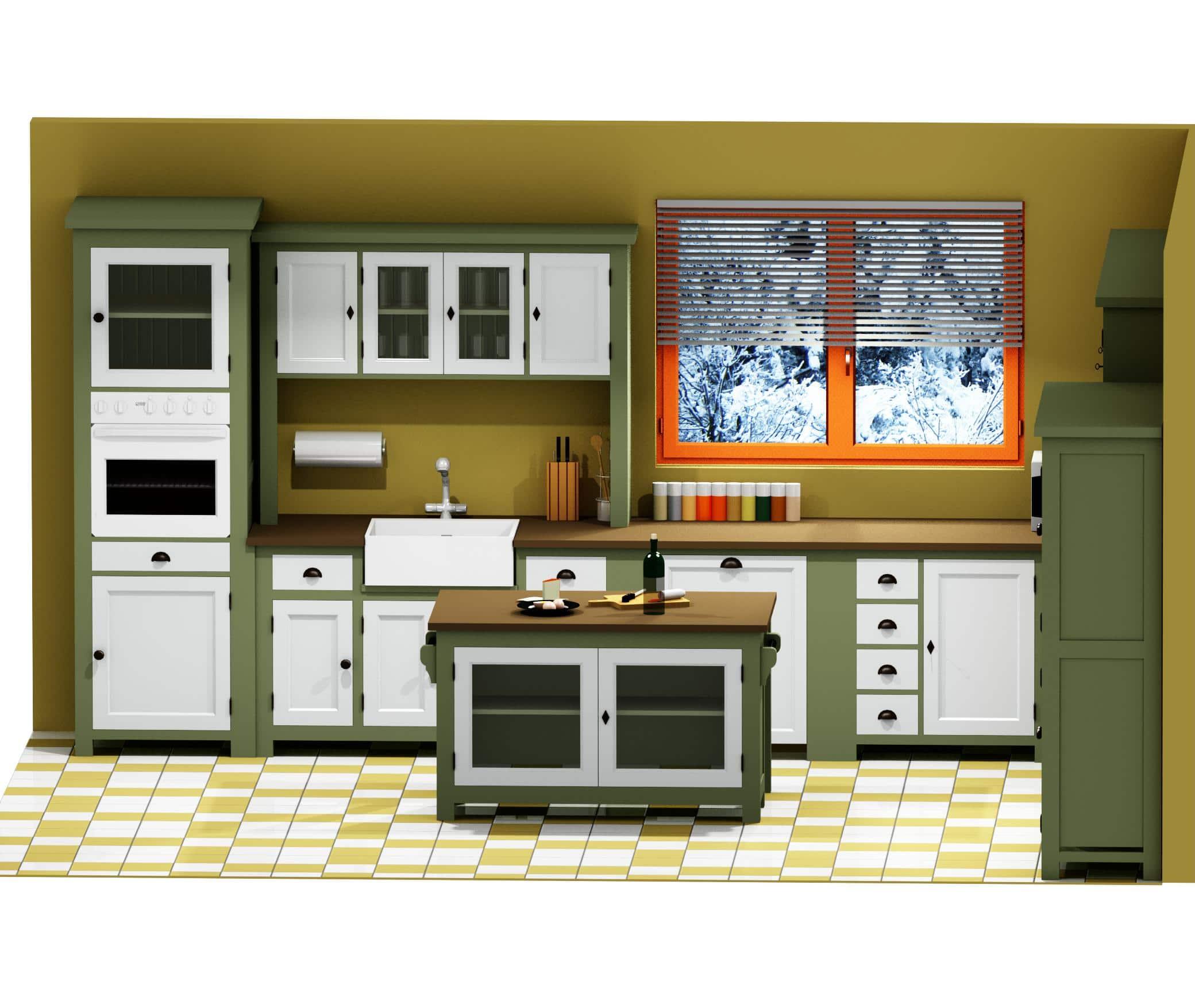 projet 3d de cuisine le d p t des docks