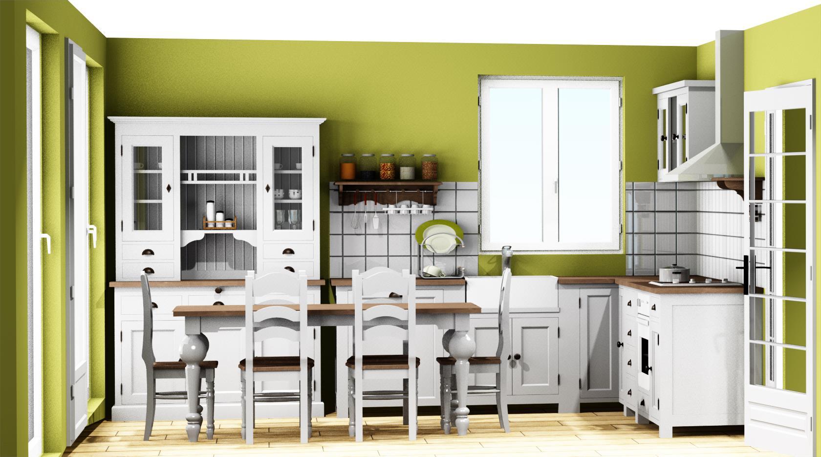 projet cuisine 3d good voici un projet d en tude une cuisine totalement dcloisonne pour faire. Black Bedroom Furniture Sets. Home Design Ideas