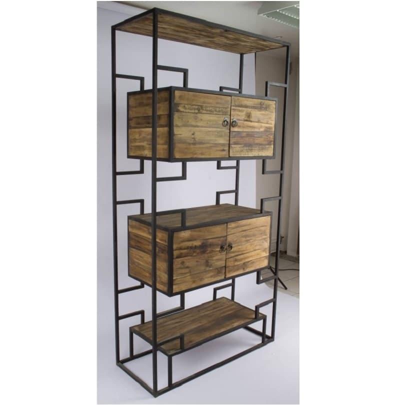 etag re vintage industrielle m tal vieux bois le d p t des docks. Black Bedroom Furniture Sets. Home Design Ideas