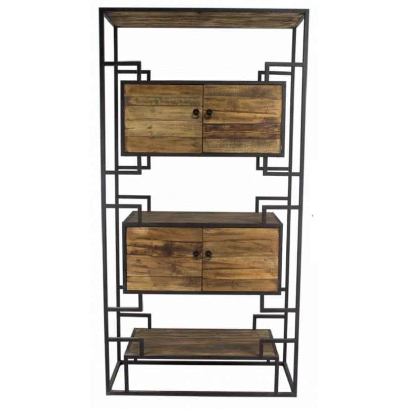 etag re vintage industrielle m tal vieux bois le d p t des docks. Black Bedroom Furniture Sets. Home Design Ideas
