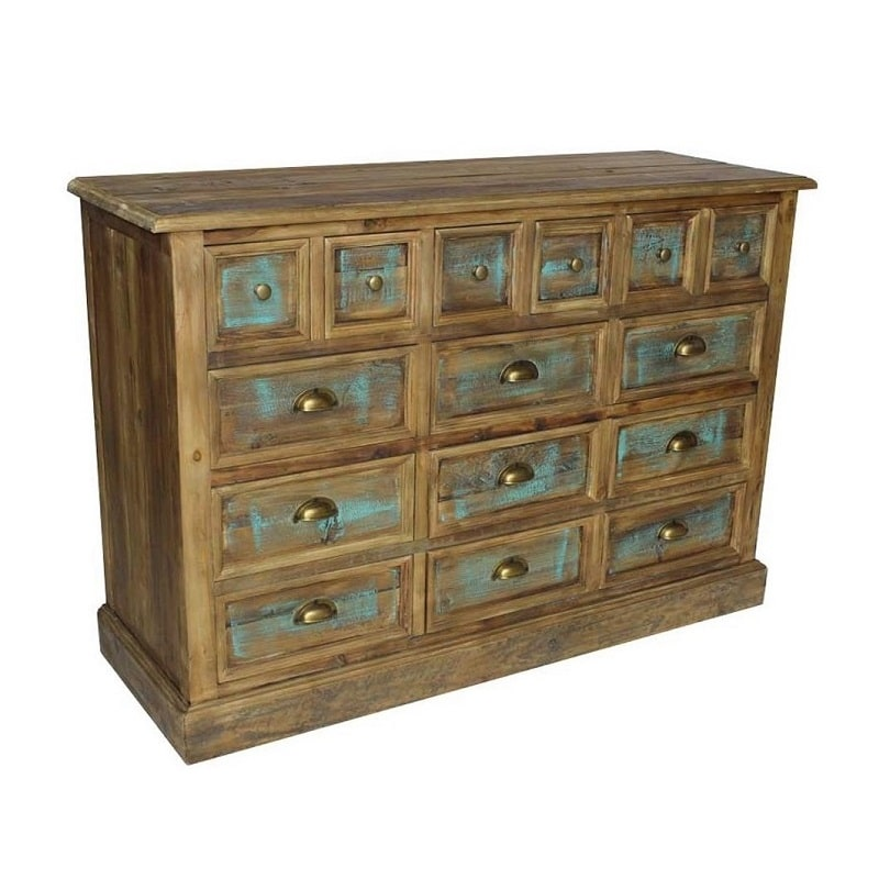 meuble multitiroirs vintage industriel vieux bois le d p t des docks. Black Bedroom Furniture Sets. Home Design Ideas