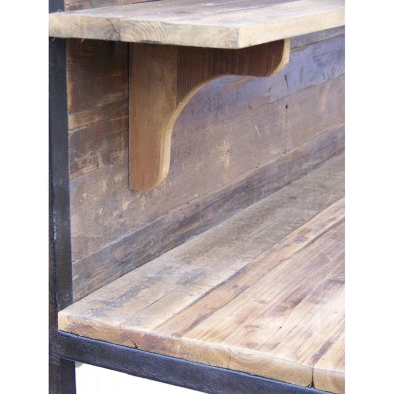 etabli vintage industriel m tal vieux bois le d p t des docks. Black Bedroom Furniture Sets. Home Design Ideas
