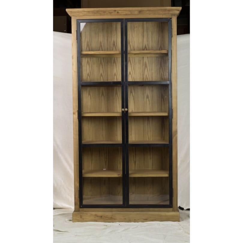 vitrine vintage industrielle m tal vieux bois le d p t des docks. Black Bedroom Furniture Sets. Home Design Ideas