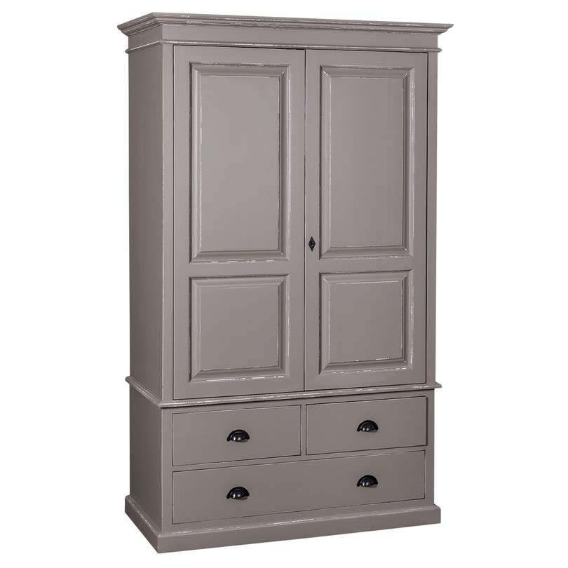 armoire 2 portes et 3 tiroirs romane le d p t des docks. Black Bedroom Furniture Sets. Home Design Ideas