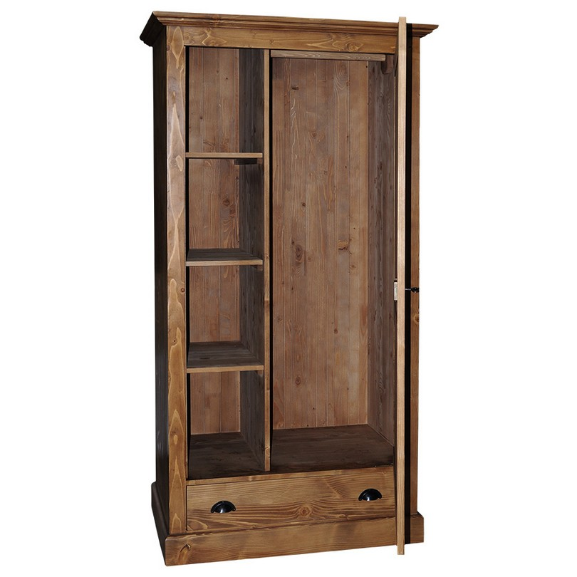 armoire bonneti re 1 porte 1 tiroir romane le d p t. Black Bedroom Furniture Sets. Home Design Ideas