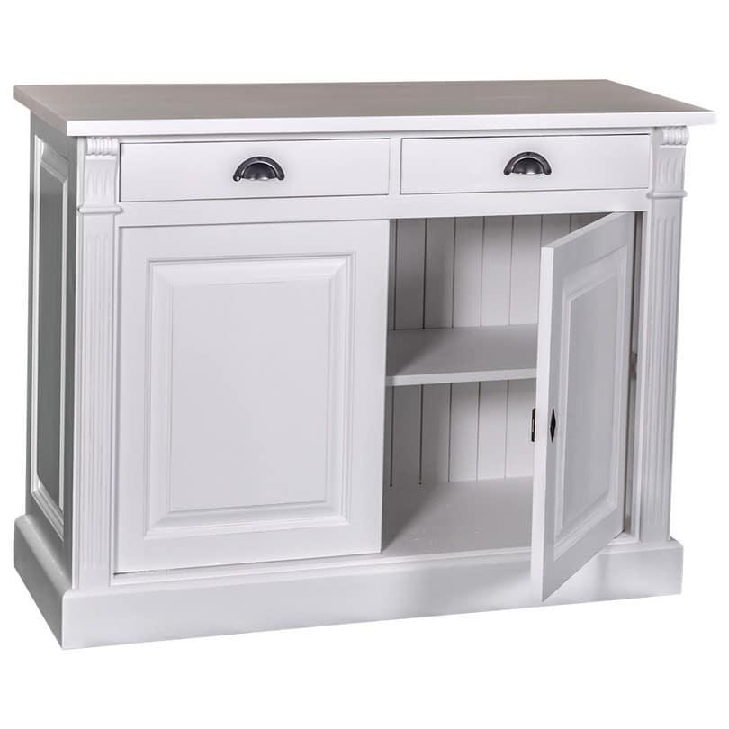 buffet bas 2 portes 2 tiroirs romane le d p t des docks. Black Bedroom Furniture Sets. Home Design Ideas