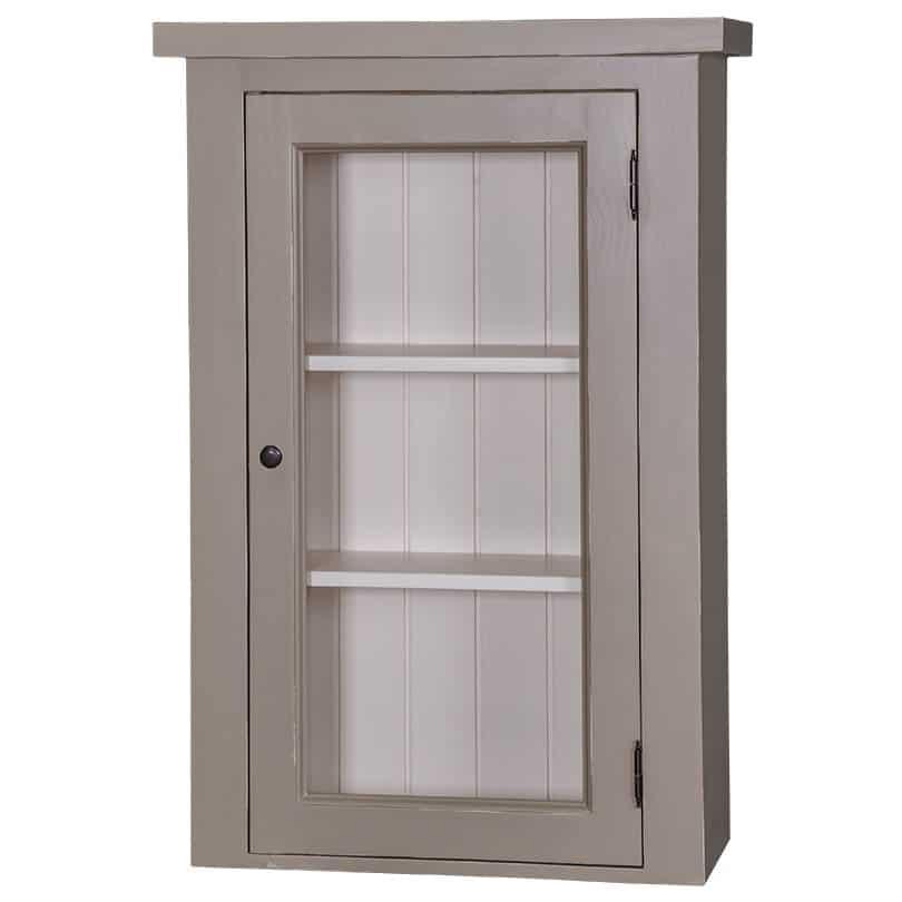 Meuble haut de cuisine 1 porte vitr e et 2 tag res le d p t des docks - Meuble cuisine haut porte vitree ...