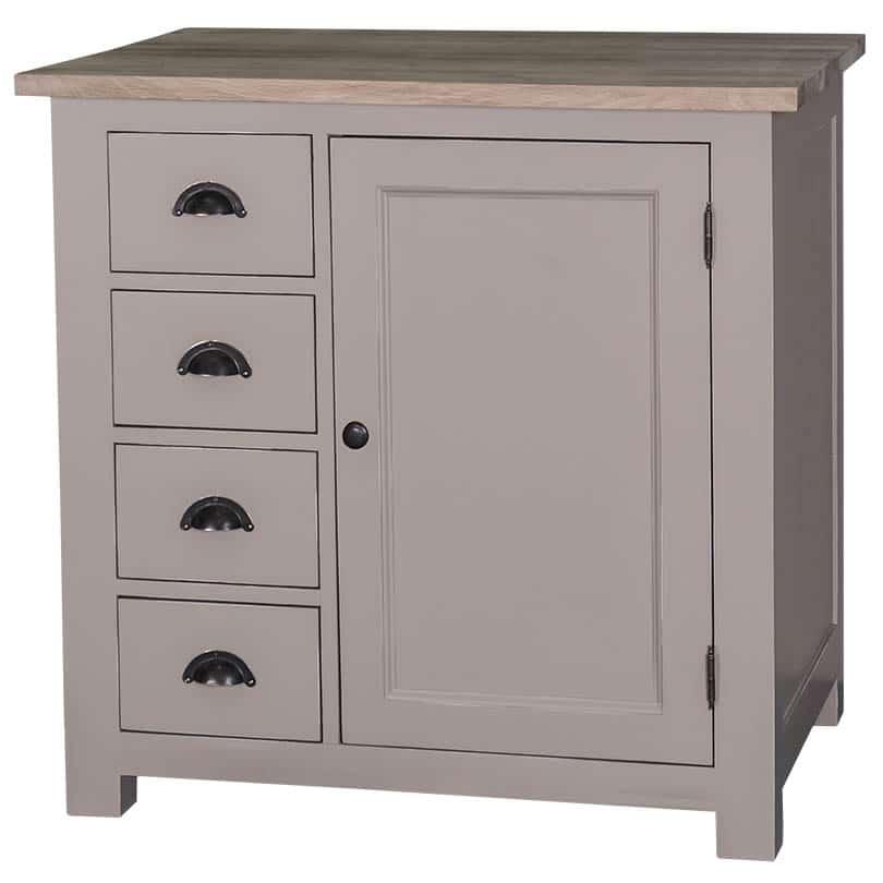 meuble bas de cuisine avec un placard et 4 petits tiroirs le d p t des docks. Black Bedroom Furniture Sets. Home Design Ideas