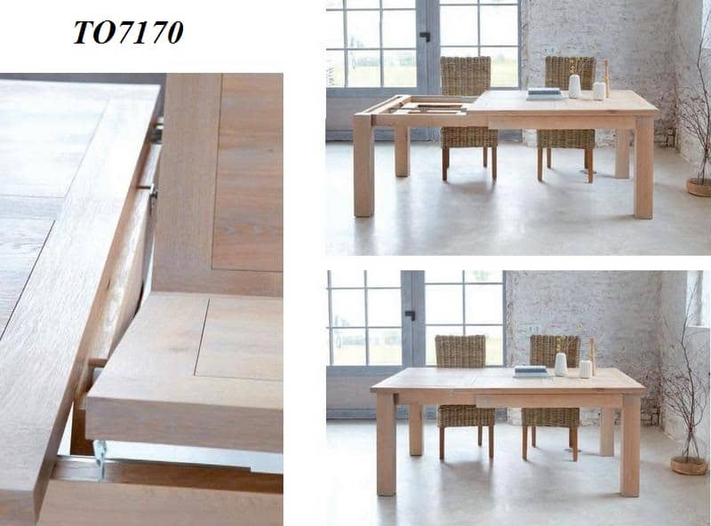 table de repas carr e contemporaine toronto 1 allonge portefeuille de 55cm le d p t des docks. Black Bedroom Furniture Sets. Home Design Ideas