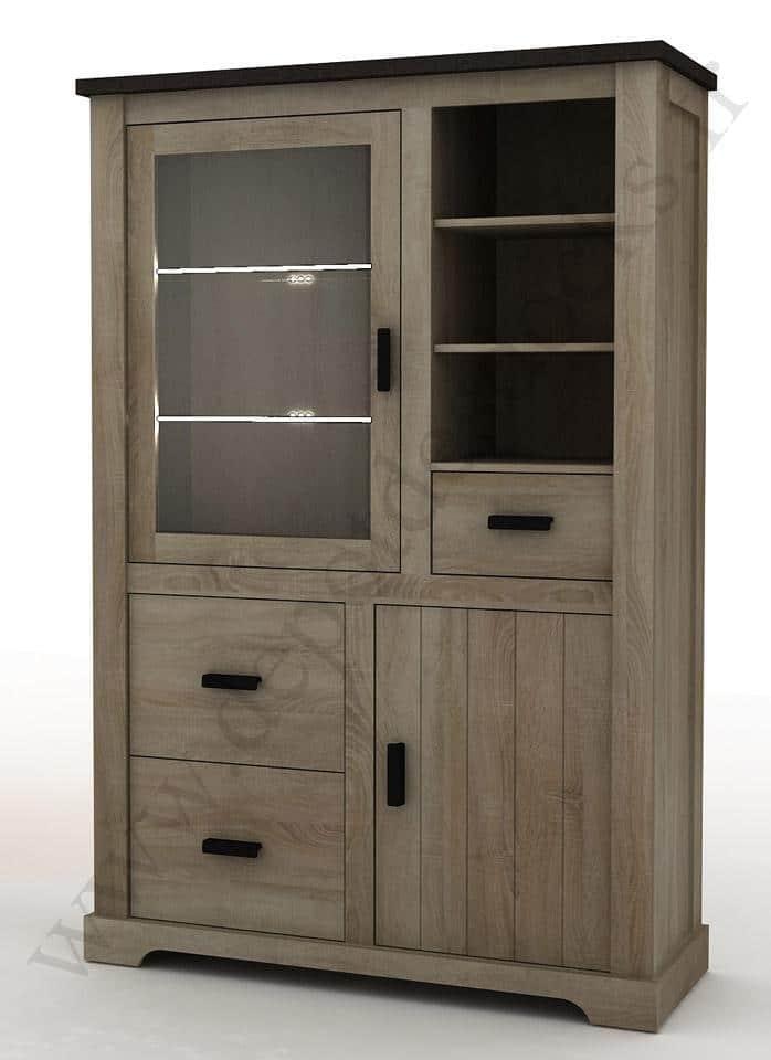 vitrine contemporaine 120cm calgary le d p t des docks. Black Bedroom Furniture Sets. Home Design Ideas