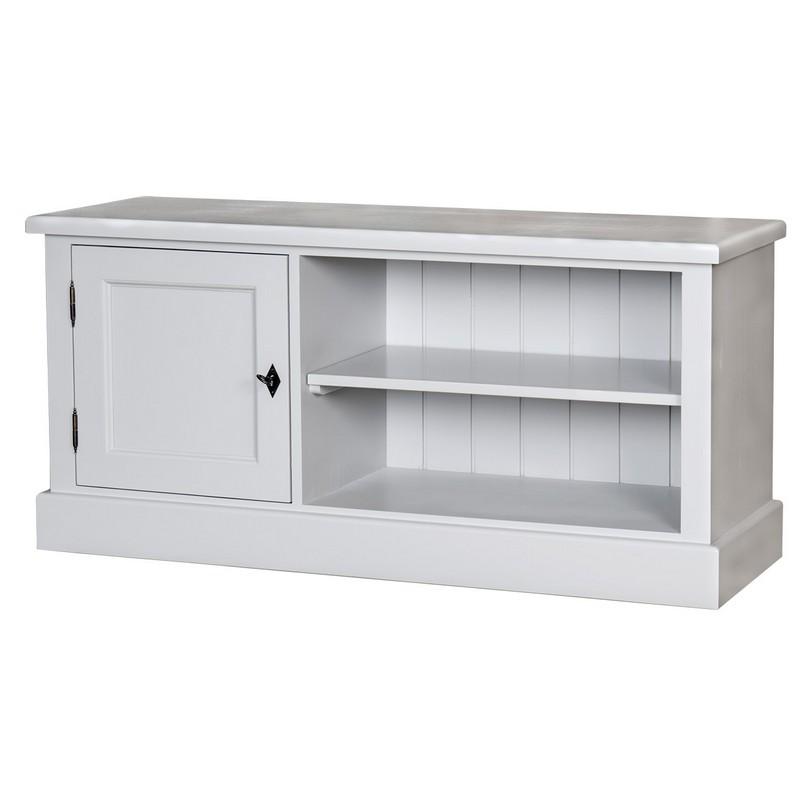 meuble tv avec 2 tag res et 1 placard le d p t des docks. Black Bedroom Furniture Sets. Home Design Ideas